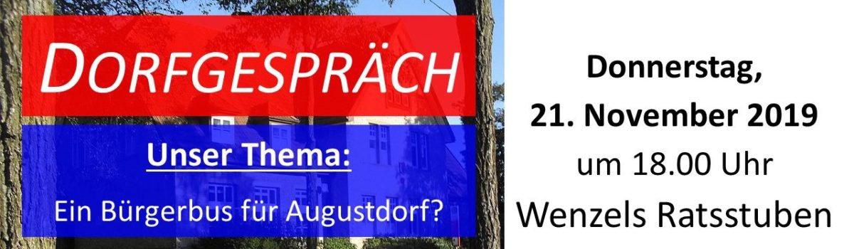 """Einladung: Informationsveranstaltung zum Thema """"Bürgerbus"""""""